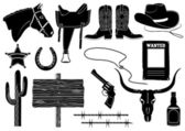 Cowboy elements. — Stock Vector