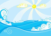 Sea. — Stock Vector