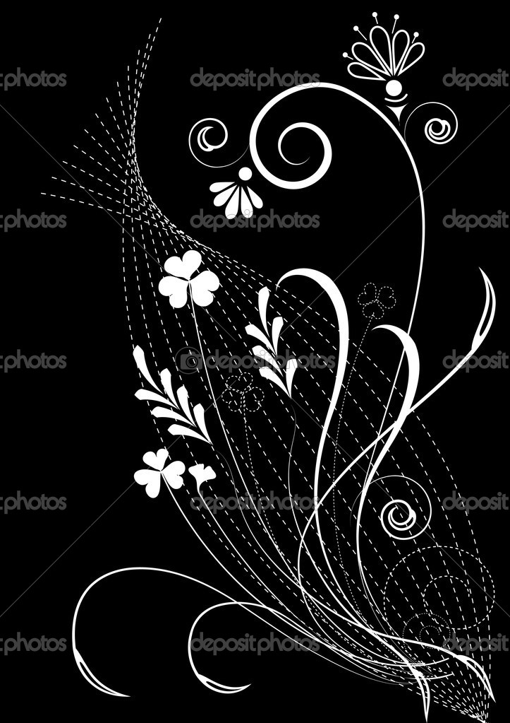 Vector floral element — Stock Vector #1180608