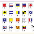 Постер, плакат: Sail flags Alphabet