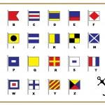 Sail flags Alphabet. — Stock Photo