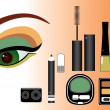 Make up.Vector cosmetics for eyes — Stock Photo