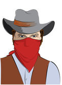 Vector cowboy .Bandit — Stock Photo