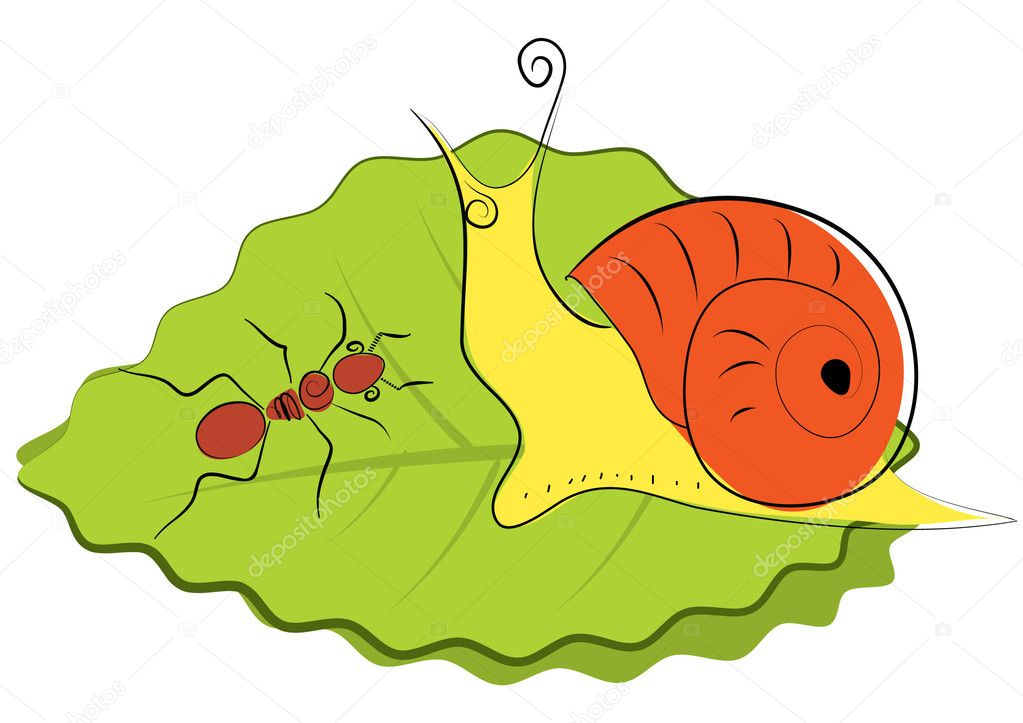 Color cartoons insects  Stock Photo #2110485