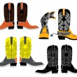 Vector shoes for cowboy — Stock Photo #2506259
