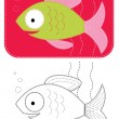 Stock Photo: Vector cartoons fish.
