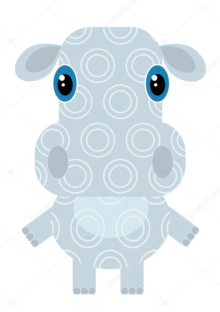 Vector cartoons hippo on white — Stock Photo #2685784