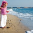 A baby and the sea — Stock Photo