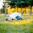 Royalty-Free Stock Photo: Boy on meadow