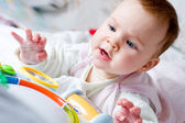 Baby playing with toy — Stock Photo