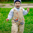Baby boy on meadow — Stock Photo