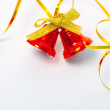 Christmas bells and ribbon — Stock Photo #1220886