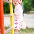 Child on bars — Stock Photo