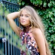 Стоковое фото: Beautiful model with long hair