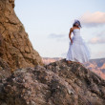 Bride on mountains — Stock Photo #1241044