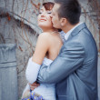 Royalty-Free Stock Photo: Groom kissing bride
