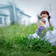 Stock Photo: Beautiful spring bride