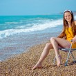 Happy woman resting at beach — Stock Photo #1243914
