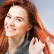 Redheaded woman — Stock Photo