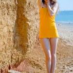 Beach glamour — Stock Photo