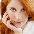Stock Photo: Beautiful woman with red hair