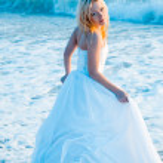 mariée en eau de mer — Photo