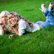 Two girls outdoors — Stock Photo #1244827