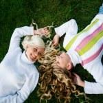 Girls in grass — Stock Photo #1244858