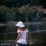 Sexual girl posing in water — Stock Photo