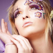 Look with long lashes - Stockfoto
