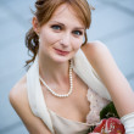 Portrait of bride — Stock Photo