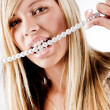 Healty pearls teeth — Foto Stock