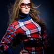 In checkered dress — Stock Photo #1246573