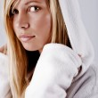 Girl in white hood — Stock Photo #1246607
