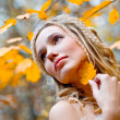 Autumn bride — Stock Photo