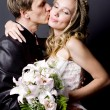 Stock Photo: Wedding kiss