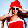 Happy Santa helper — Stock Photo