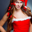 Pretty Santa girl — Stock Photo #1246829