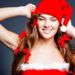 Stock Photo: Cheerful mrs. Santa