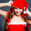 Cheerful mrs. Santa — Stock Photo #1246851