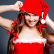 Cheerful mrs. Santa — Stockfoto