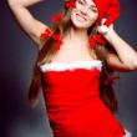Sexy santa helper girl — Stock Photo