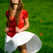 Girl in field — Stock Photo #1247026