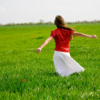 Girl in field — Stock Photo #1247049