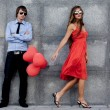 Fashion couple — Stockfoto