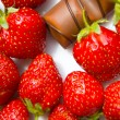 Strawberry and chocolate — 图库照片