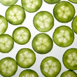 Stock Photo: Cucumber slices