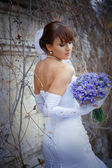 Posing bride — Stock Photo