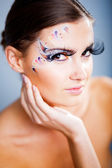 Ceremonial makeup — Stock Photo