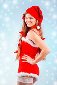Sexy mrs. Santa — Stock Photo